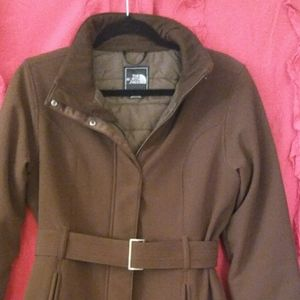 THE NORTH FACE Apex Brown Trench Coat Women S